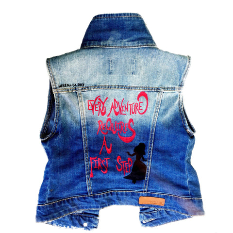 'ALICE' DENIM VEST - Girls