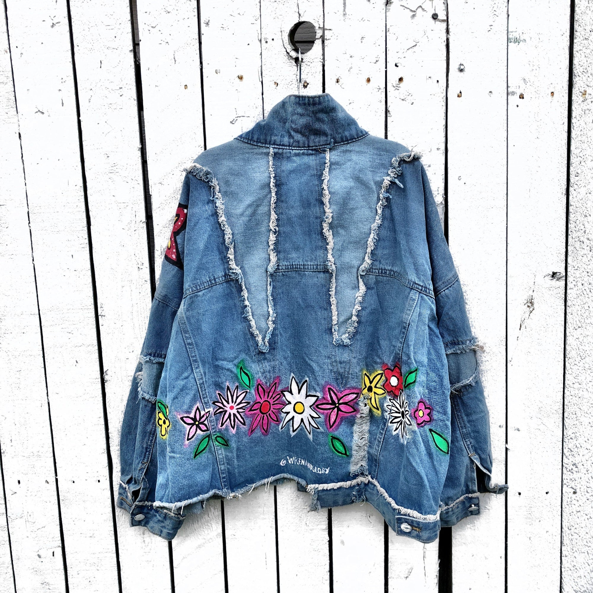'FLOWER FLING' DENIM JACKET