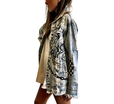 'GRAFFITI GIRL' DENIM JACKET