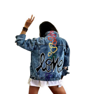 'LOVE IS LOVE' DENIM JACKET