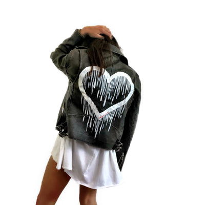 'STAY TRUE' LEATHER JACKET