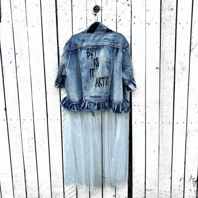 'ART?' DENIM JACKET