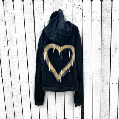 'HEART' PAINTED SWEATSHIRT