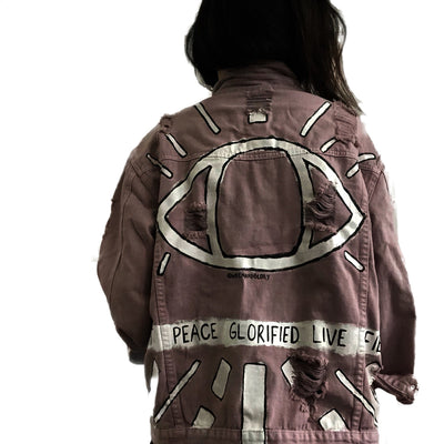 'I See You' Denim Jacket