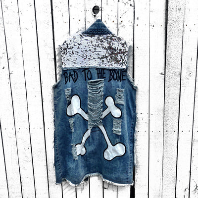 'BAD B*TCH' DENIM VEST