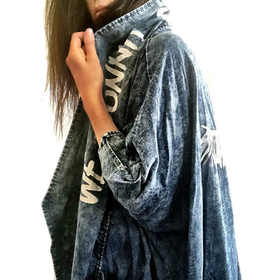 'WE ARE THE REVOLUTION' DENIM JACKET