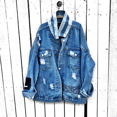 'PEACE AND LOVE' DENIM JACKET