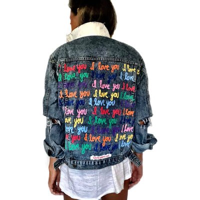 'I LOVE YOU' DENIM JACKET