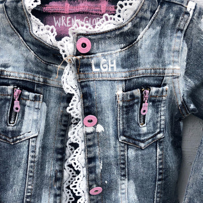 'OPEN BOW' DENIM JACKET - GIRLS