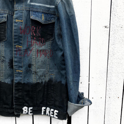 'PLAY HARD' DENIM JACKET - MEN