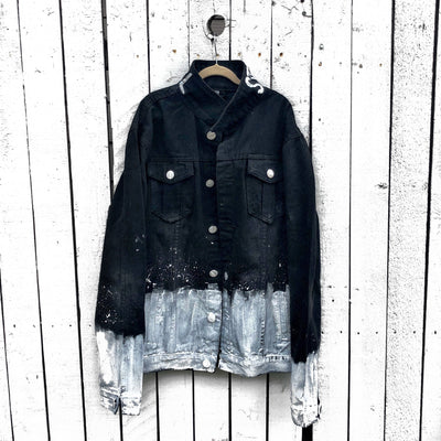 'SPLATTER' DENIM JACKET - MENS