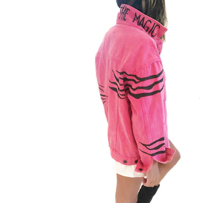'ZEBRA MAGIC' DENIM JACKET