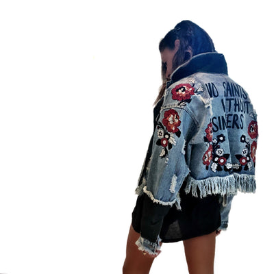 'SAINTS' DENIM JACKET