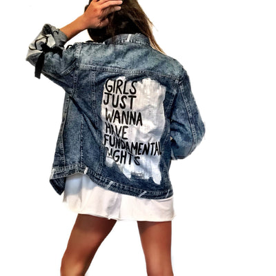 'WHAT GIRLS WANT' DENIM JACKET