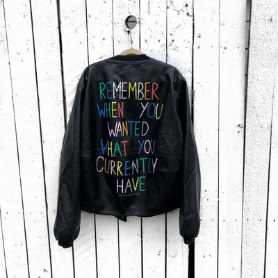 'REMEMBER' LEATHER JACKET