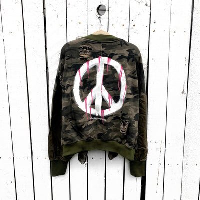'PEACE' PAINTED SWEATSHIRT