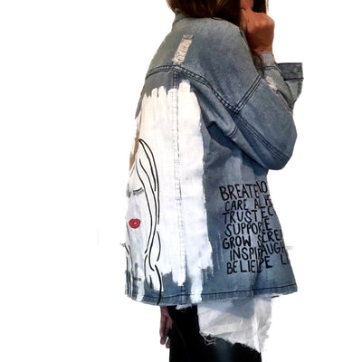'TRUST THE QUEEN' DENIM JACKET