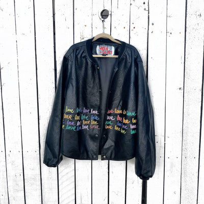 'RAINBOW LOVE' LEATHER JACKET