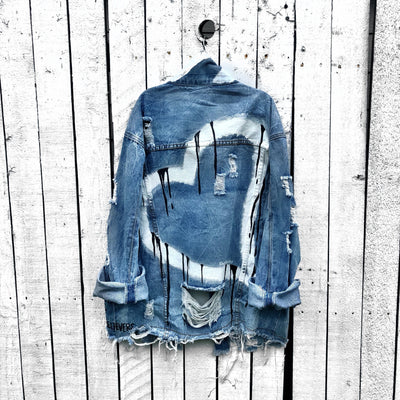 'DRIPPING HEART' PAINTED JACKET