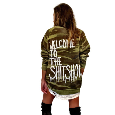 'ITS A SH*TSHOW' PAINTED HOODIE