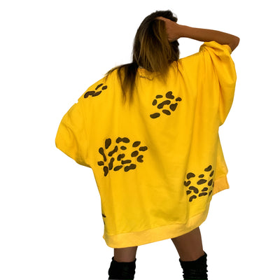 'IM A CHEETAH' PAINTED SWEATSHIRT