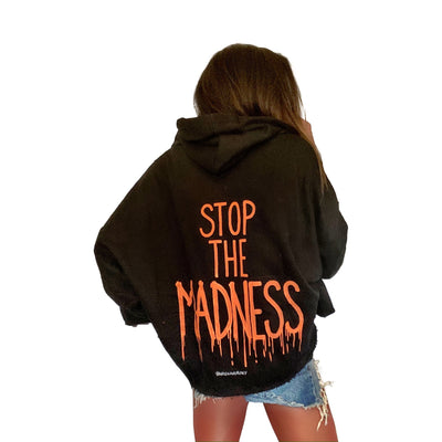'ITS ALL MADNESS' PAINTED HOODIE