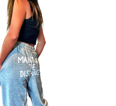 'KEEP YOUR DISTANCE' PAINTED SWEATPANTS