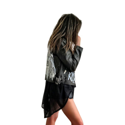 'KISS KISS' LEATHER JACKET