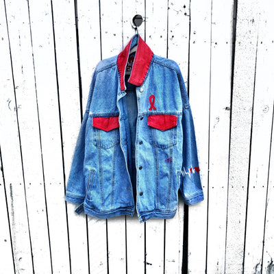 'LOVE THE HEART' DENIM JACKET
