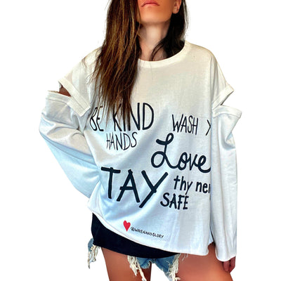'LOVE THY NEIGHBOR' PAINTED SWEATSHIRT