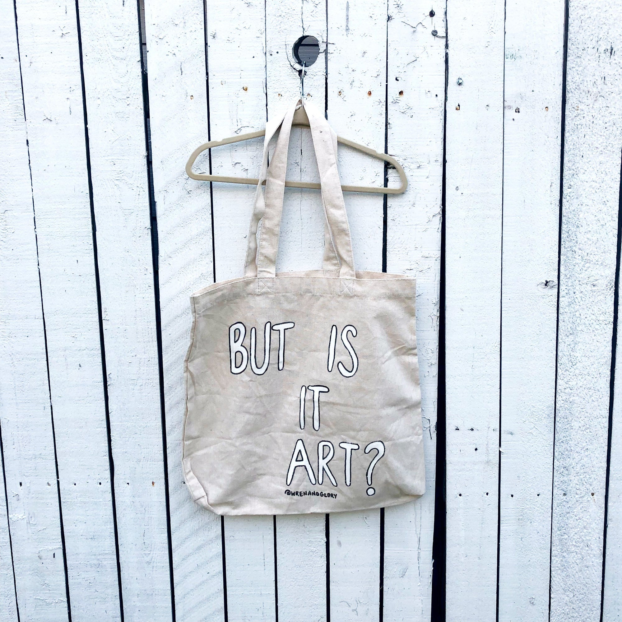 'ART?' PAINTED TOTE BAG