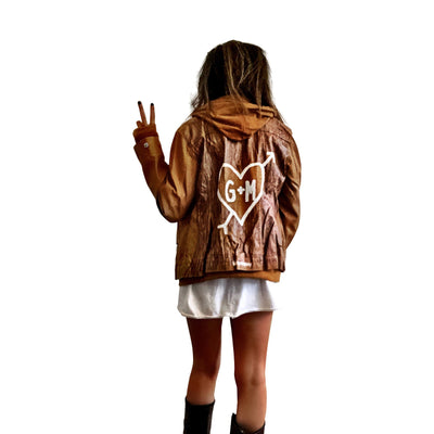 'ME + YOU' LEATHER JACKET