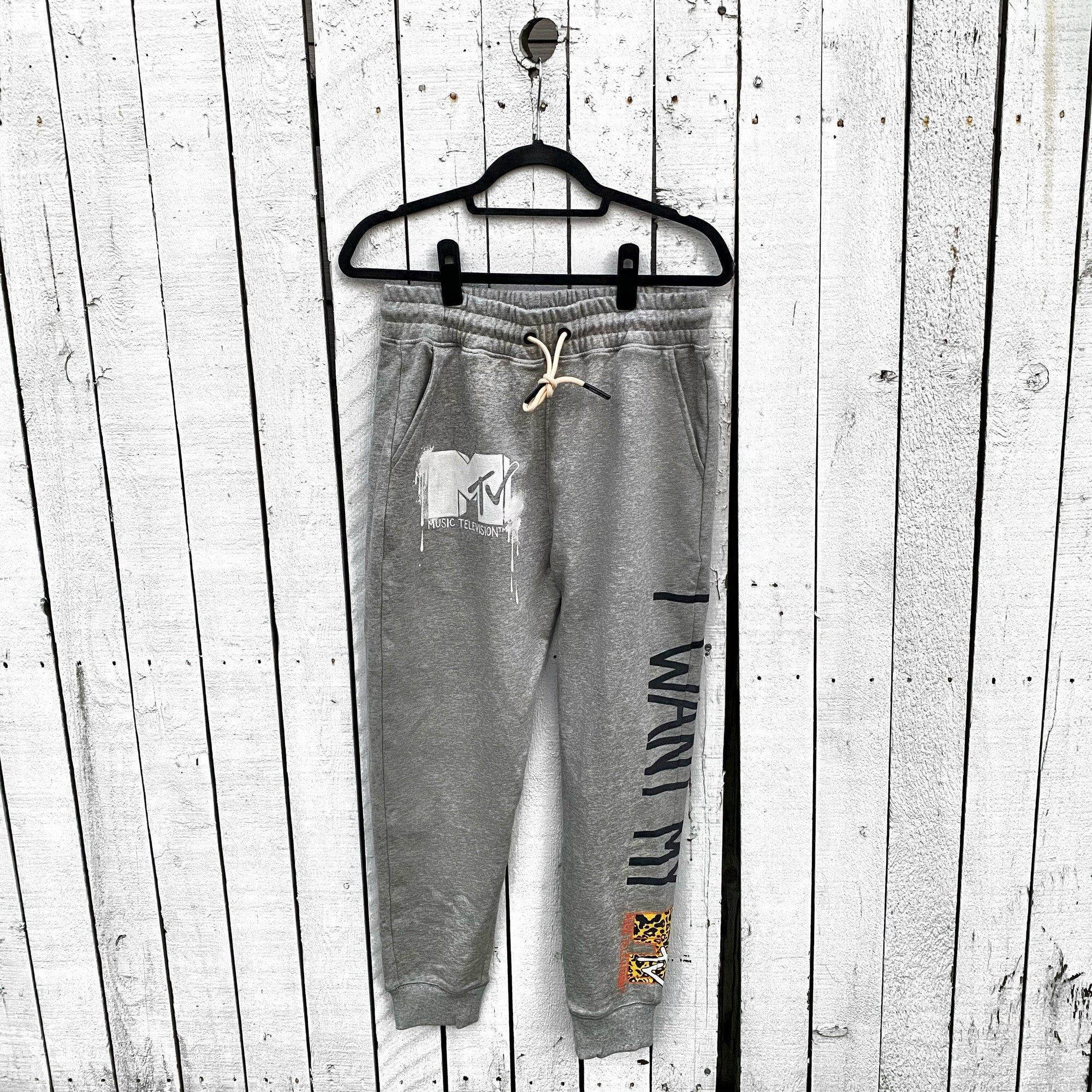 WG x MTV 'MTV AND LEOPARD' SWEATPANTS