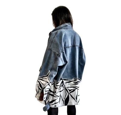 'MY STRIPES' DENIM JACKET