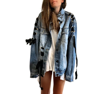 'MAGIC INITIAL' DENIM JACKET