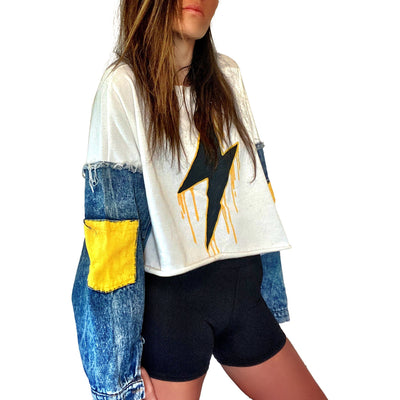 'MELTING LIGHTNING' PAINTED SWEATSHIRT