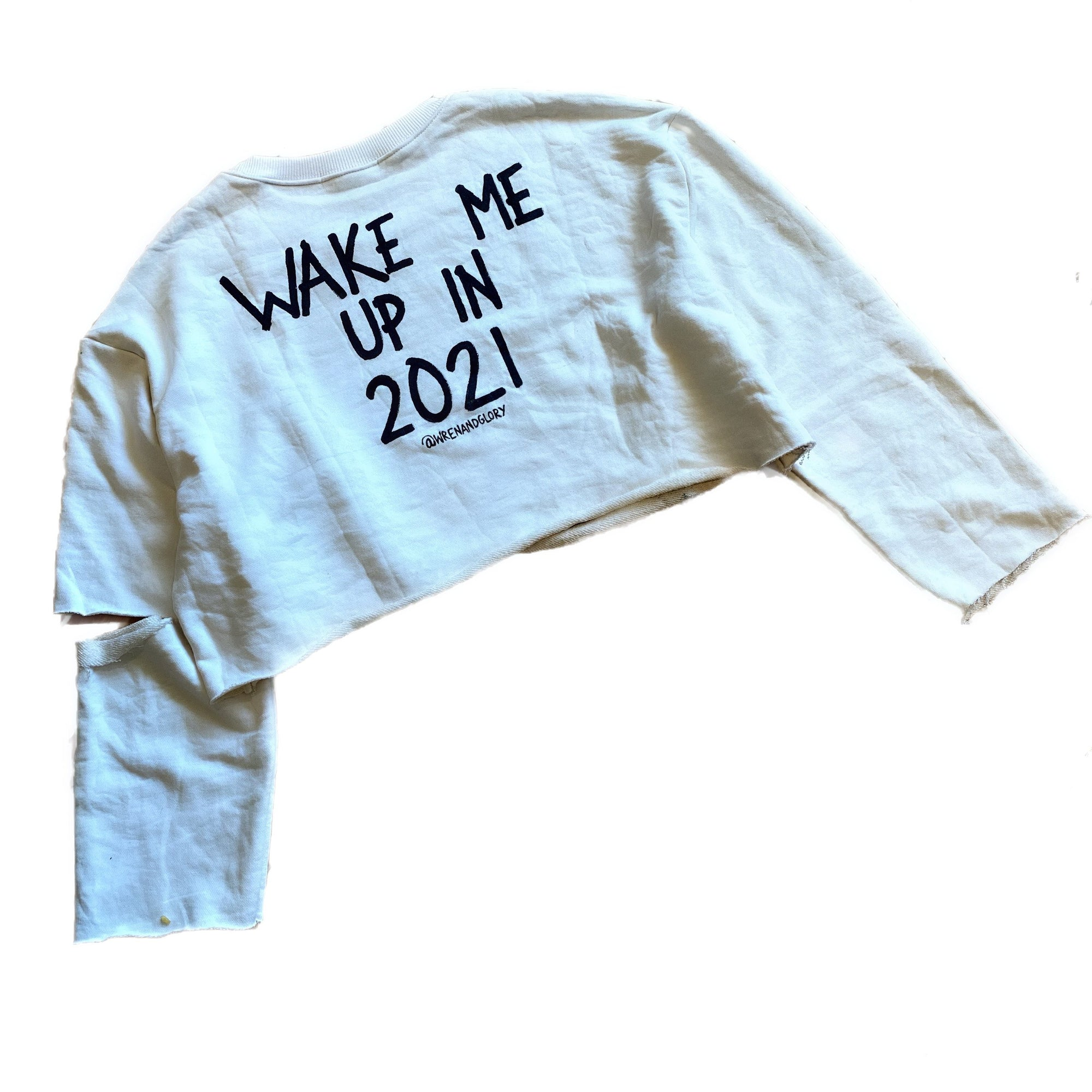 'IS IT 2021 YET' PAINTED SWEATSHIRT