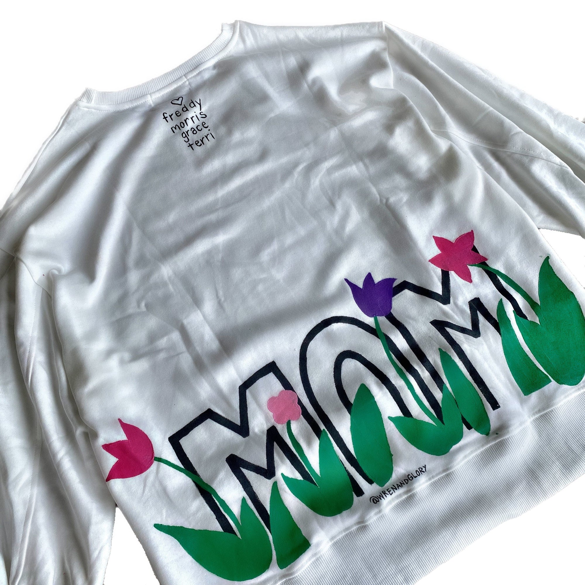 'FOR THE MOM' PAINTED SWEATSHIRT