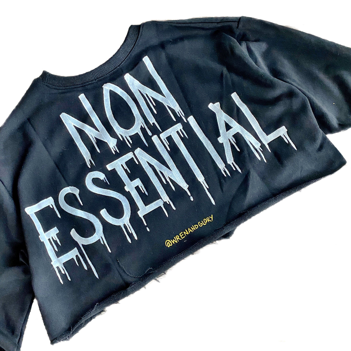 'NON ESSENTIALS' PAINTED SWEATSHIRT