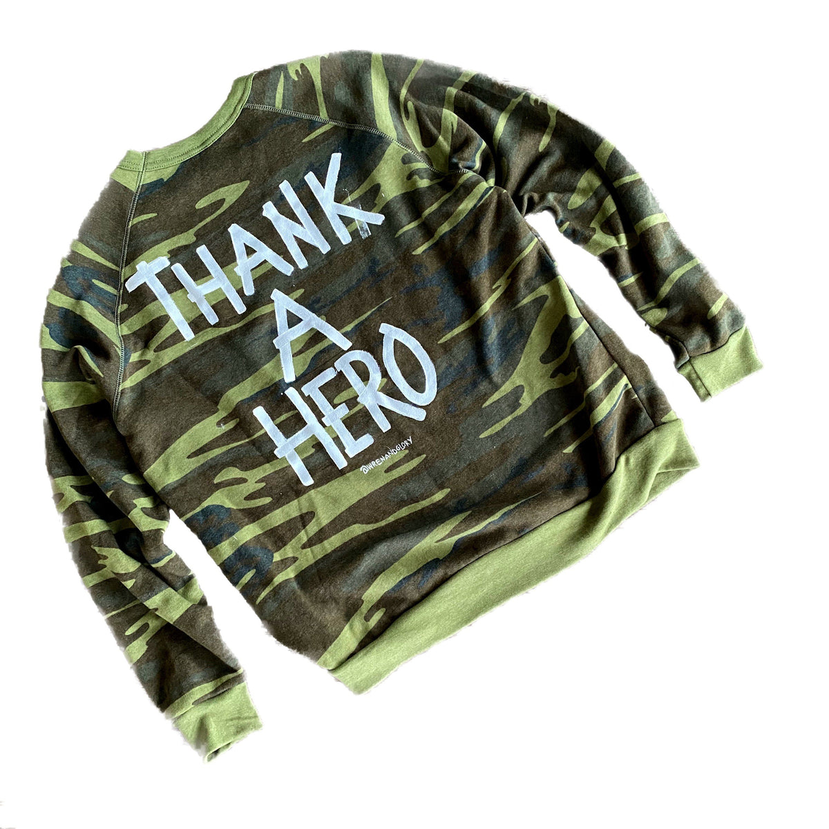 'THANK A HERO' PAINTED SWEATSHIRT
