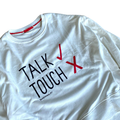 'NO TOUCHING' PAINTED SWEATSHIRT