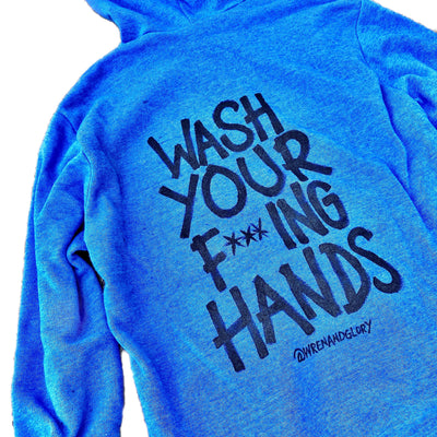 'WASH YOUR HANDS!' PAINTED HOODIE