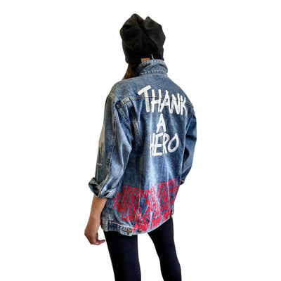 'THANK OUR HEROS' DENIM JACKET