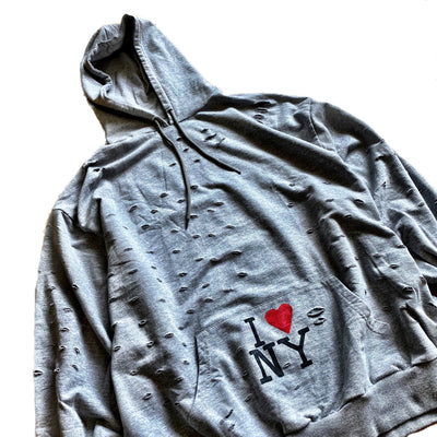 'NYC STRONG' PAINTED HOODIE