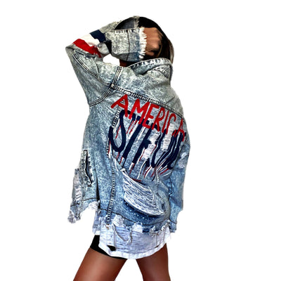 'AMERICA STRONG' DENIM JACKET