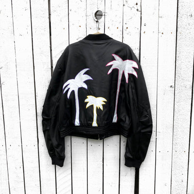 'RAINBOW PALMS' LEATHER JACKET