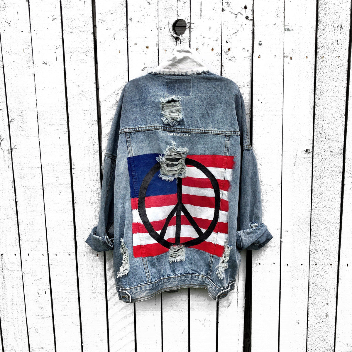 'PEACE FLAG PART 2' DENIM JACKET