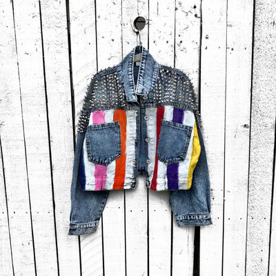 'RAINBOW SPIKE' DENIM JACKET