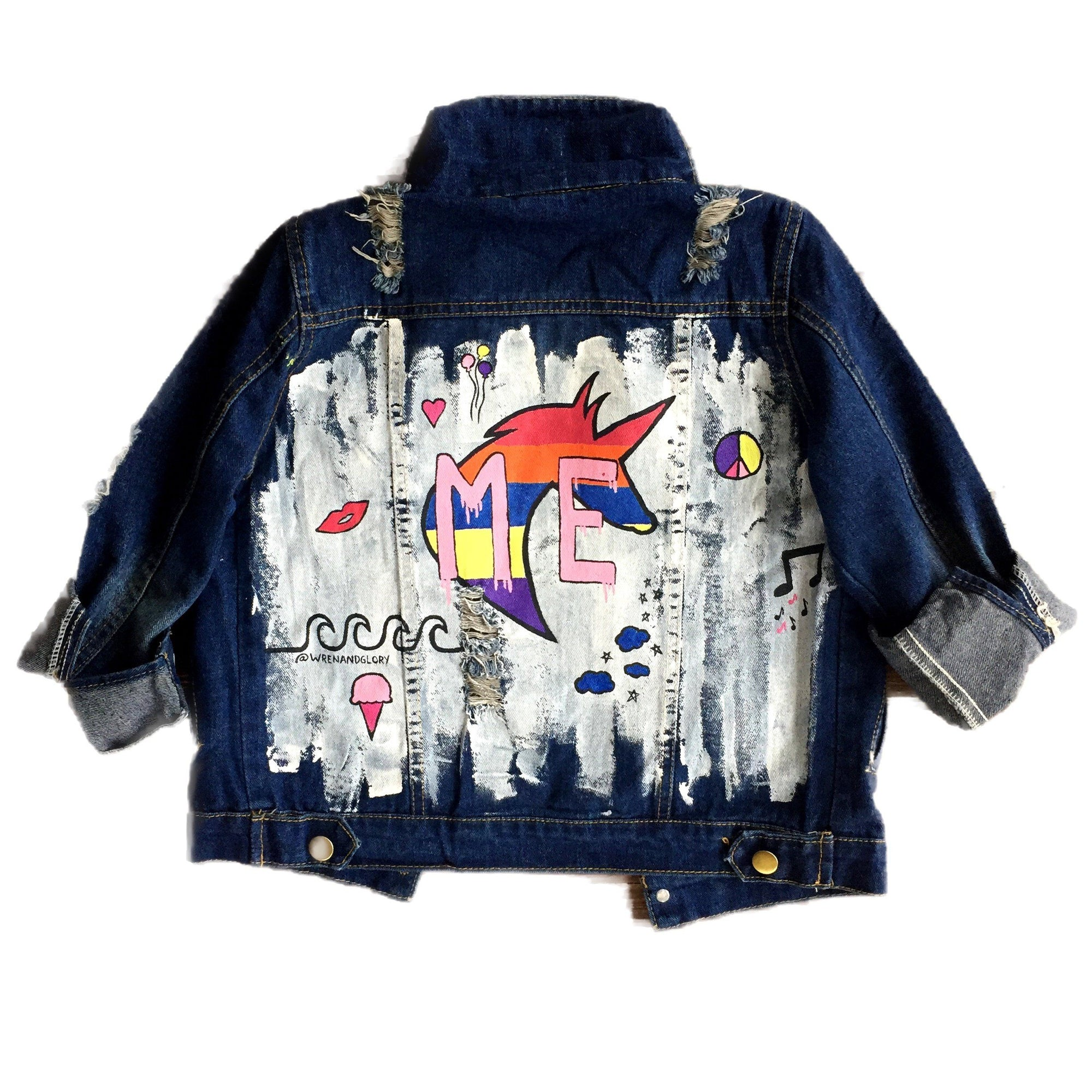 'YOUR INITIALS HERE' DENIM JACKET - Girls