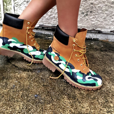 'CAMO CAMO' PAINTED BOOTS